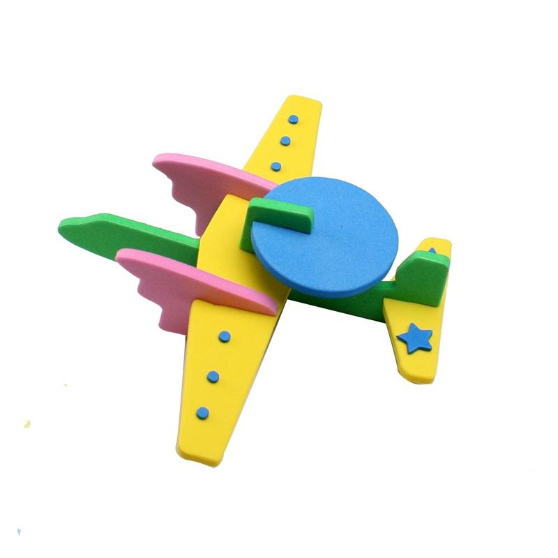 幼儿园手工制作飞机拼拆装模型eva材料包儿童diy自制-幼儿手工制作