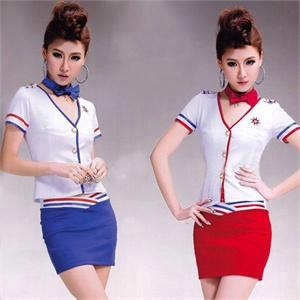 空姐制服诱惑情趣内衣 红白两件套超短裙 游戏制服 角色扮演女性成人套装F5 送T字裤