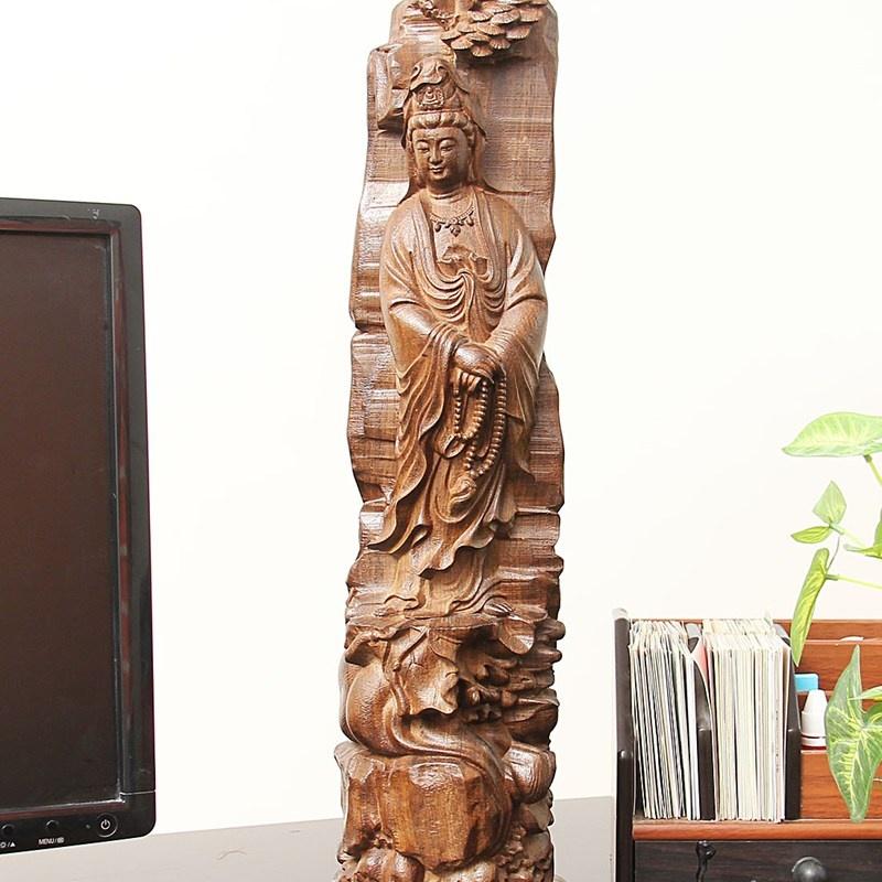 尚帝 木雕雕像摆件进口非洲黑檀 居家摆件工艺品 特价木雕人物 2014md