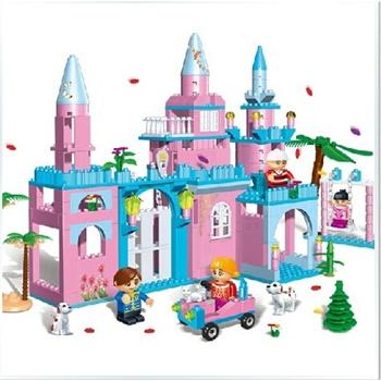 邦宝 公主城堡房屋拼装积木 儿童益智拼插塑料积木玩具 童话之城