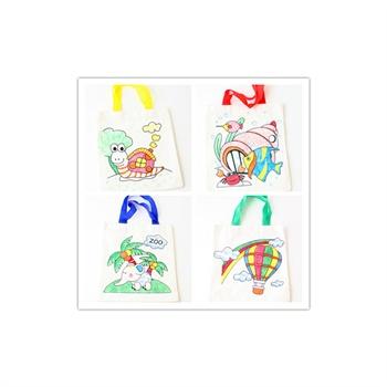 幼儿园手工材料手工diy儿童手工制作-环保纯棉礼物袋