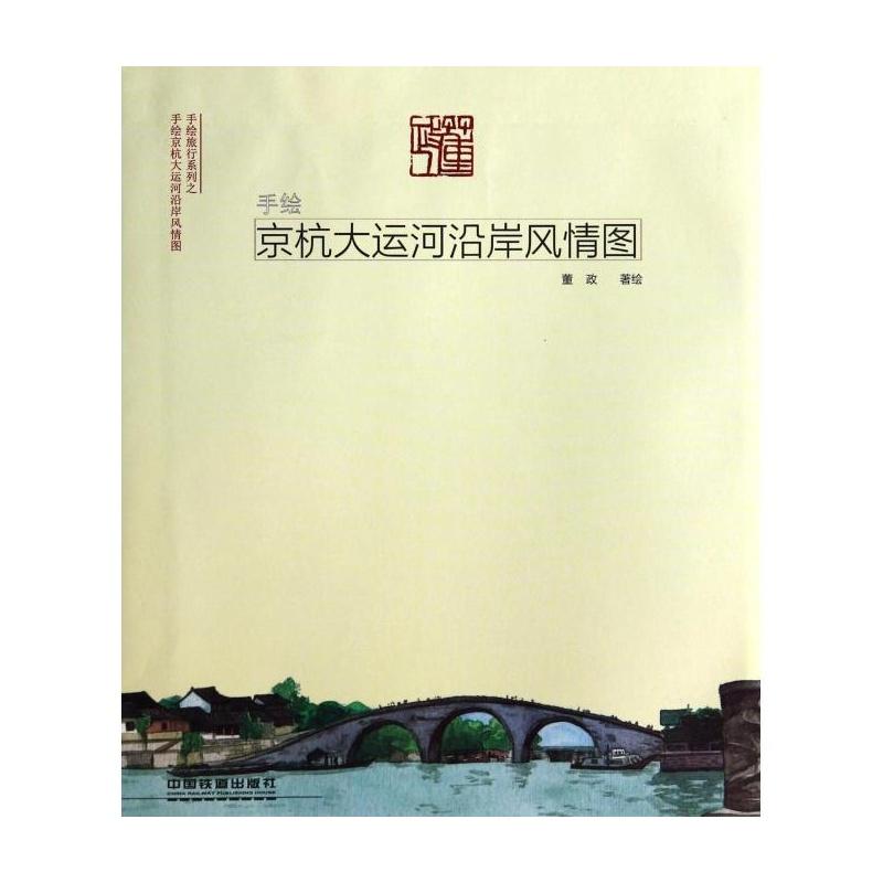 《手绘京杭大运河沿岸风情图/手绘旅行系列