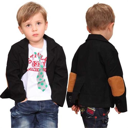 belbaby2014春季新款童装儿童西服休闲外套休闲西服t007_黑色西服 wt图片