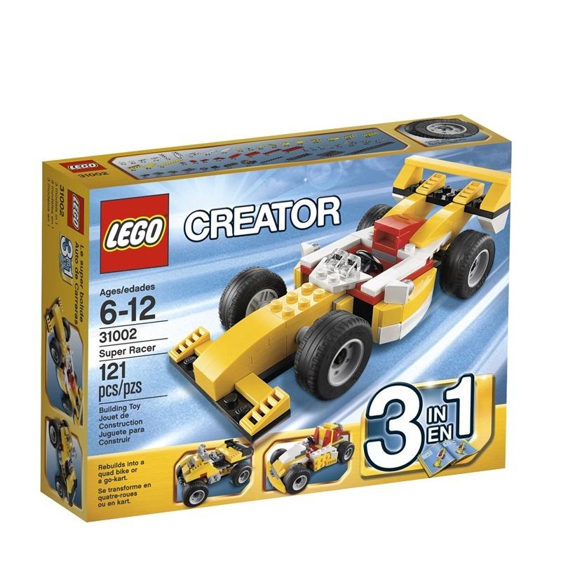超级赛车 儿童益智积木拼插玩具