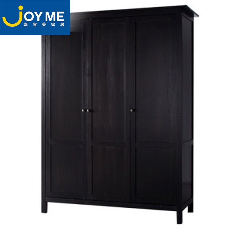 嘉宜美木质衣柜实木组装衣柜整体衣柜推拉门欧式衣柜