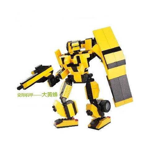 积木拼装玩具 大黄蜂 284片乐高式积木拼插玩具变形