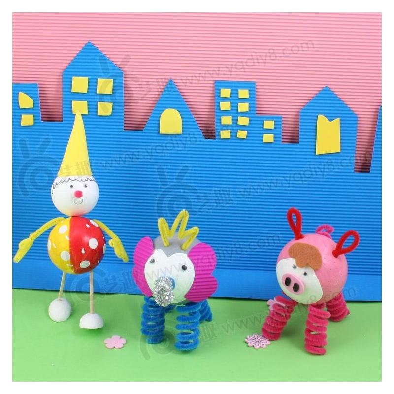 艺趣幼儿园儿童益智diy玩具手工材料创意60mm保丽龙泡沫球10个装
