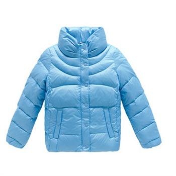 女士服装 羽绒服 森马2014年女士冬装新款 立领纯色按扣拉链羽绒服