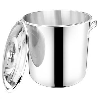 40cm不锈钢桶带盖加厚不锈钢汤桶