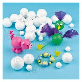 【艺趣手工diy】幼儿园儿童益智diy玩具保丽龙泡沫球