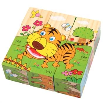 小皇帝 森林动物九块拼图玩具xhd3052b wj-110-hd8