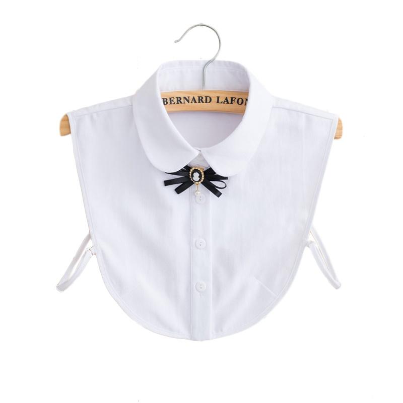 佰妃丽新款棉假领子衬衫正装搭配花纹假衣领子秋冬季款j5280