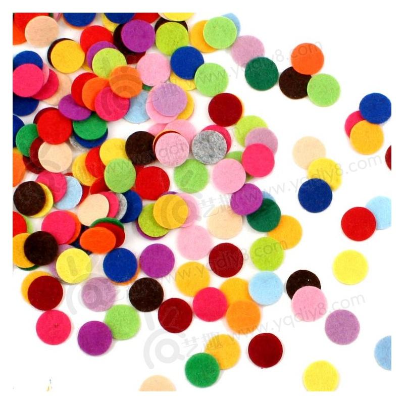 幼儿园手工材料手工diy儿童手工制作混装不织布小圆片(约200片)