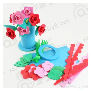 教师节礼物/品自制立体玫瑰花幼儿园手工材料包儿童