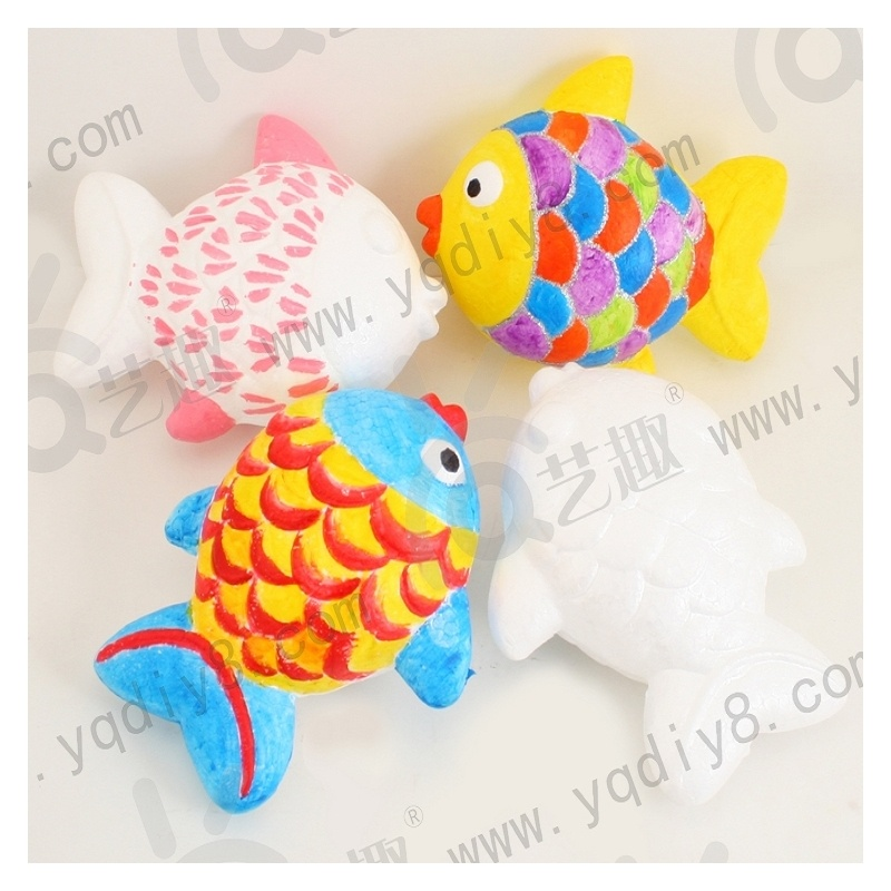 幼儿手工材料手工diy儿童手工制作幼儿diy-保丽龙小鱼-年年有鱼