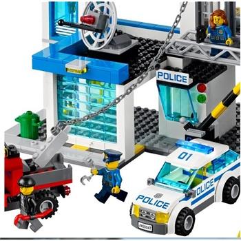 正版乐高拼装积木城市英雄 警察总局 l60047 拼插玩具