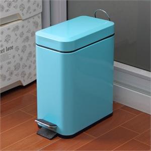 [当当自营]欧润哲 5l长方形垃圾桶(粉蓝色)100606
