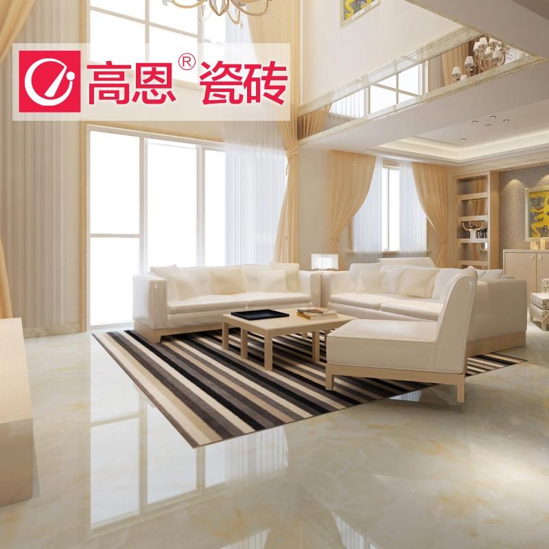 高恩 客厅大厅餐厅地砖 仿大理石5d喷墨瓷砖 微晶石地板砖800