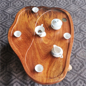 根之魂实木茶盘茶具套装进口非洲花梨木原木茶桌功夫