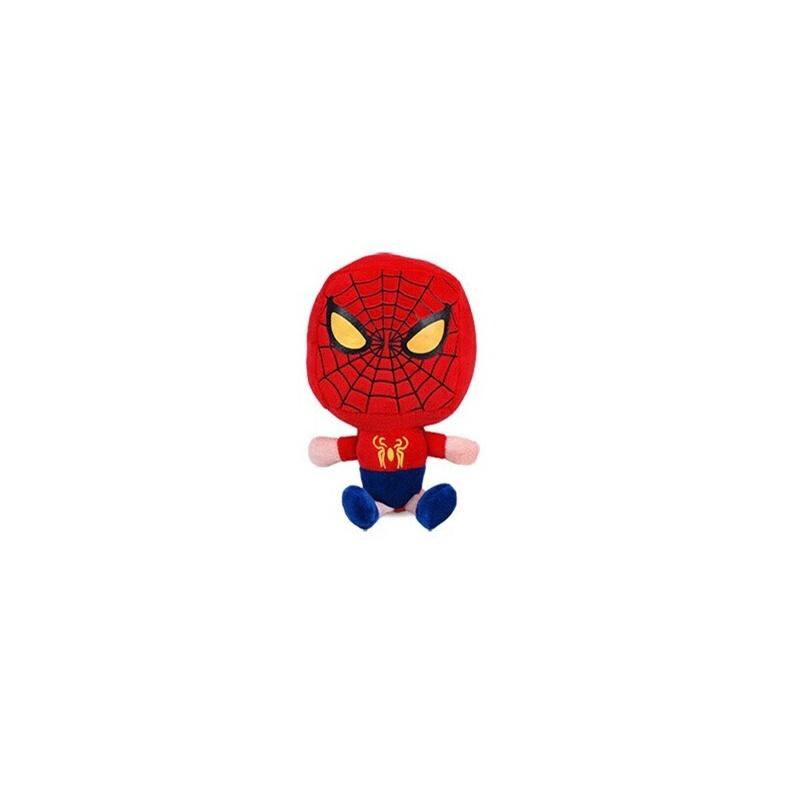 英雄系列复仇军团毛绒玩具q版公仔蝙蝠侠钢铁侠蜘蛛侠超人绿巨人_蜘蛛