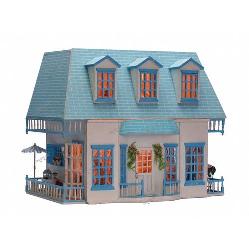 手工大型木质拼装别墅房模型屋