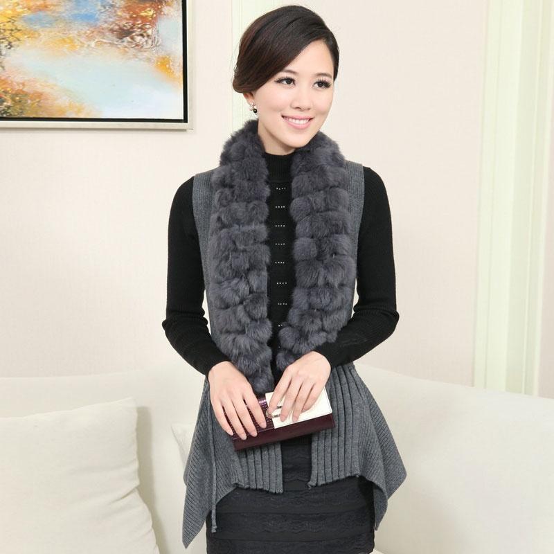 无袖舍春季新款韩版丝柏设备外套针织开衫羊毛206_灰色,l马甲复合保温板图片