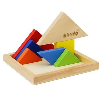 家 比好系列 七巧板 木制彩色创意拼图 儿童益智玩具怎么样,好不好