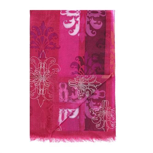 玫红色欧式复古鸢尾花丝绒