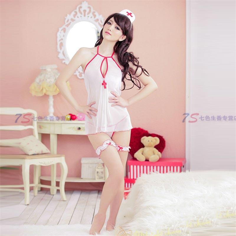 护士制服情趣内衣套装性感开档大码透明露乳服情趣制服情趣制服乳f睡衣图片