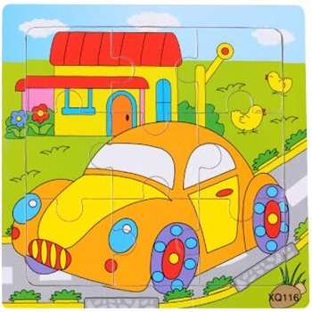 壹俩步9片拼图卡通动物交通幼儿园积木木质制拼版儿童小拼图玩具_小