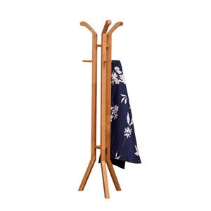 御品工匠 实木衣帽架 挂衣架 金胡桃色现代中式h18
