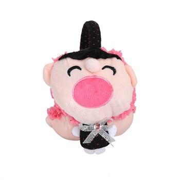 依吉饰 可爱卡通大嘴娃娃耳罩 女士耳套 秋冬季保暖耳