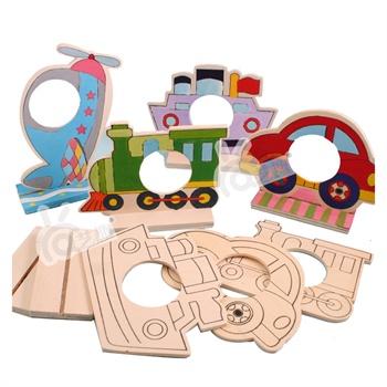 幼儿园手工材料包木质自制填色交通工具相框儿童diy
