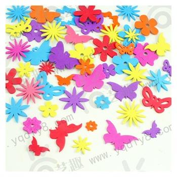 幼儿园手工材料手工diy儿童手工制作--背胶蝴蝶花朵eva贴片