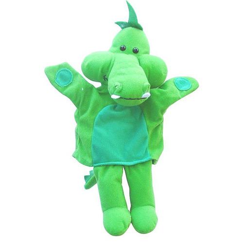 【可爱小鳄鱼手偶-绿色图片】高清图