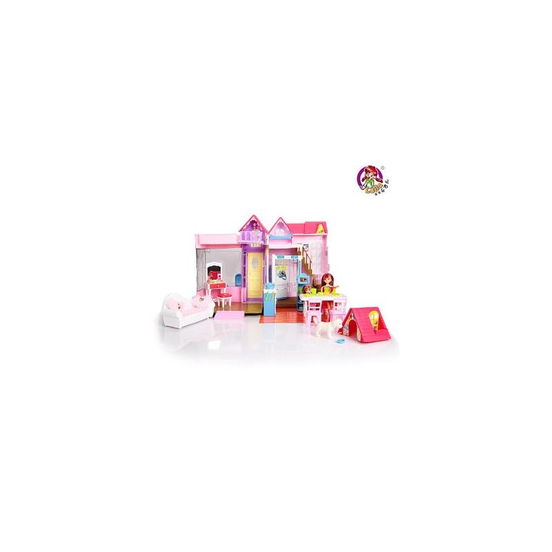 乐吉儿甜蜜家园甜甜屋芭比娃娃套装大礼盒正品2014女孩公主玩具