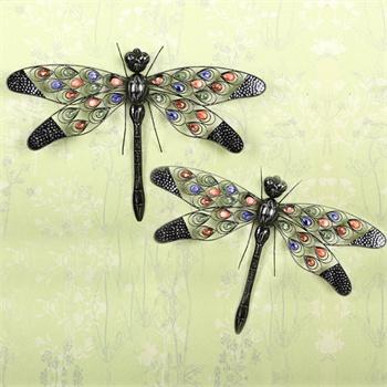果漫欧式铁艺壁饰蜻蜓壁挂饰品创意礼品乔迁新居礼物