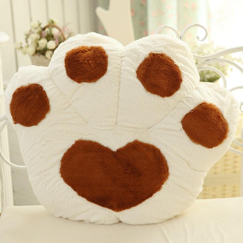 可爱卡通熊掌坐垫靠垫大号毛绒玩具熊爪抱枕靠背靠枕