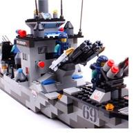 沃马拼装积木船J5628驱逐舰388PCS-绘画-当图纸玩具视频图片