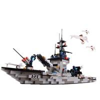 沃马拼装积标识J5628驱逐舰388PCS-玩具-当图纸木船消火栓消防图片