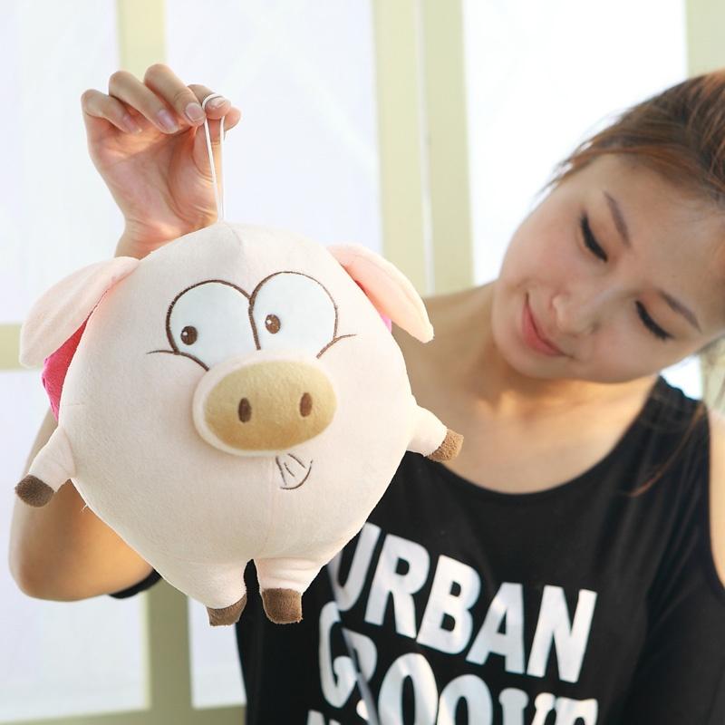 可爱胖胖天使猪布娃娃毛绒玩具猪猪公仔玩偶创意生日礼物女生 天使猪