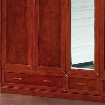 卧室整体衣柜实木雕刻橡木家具