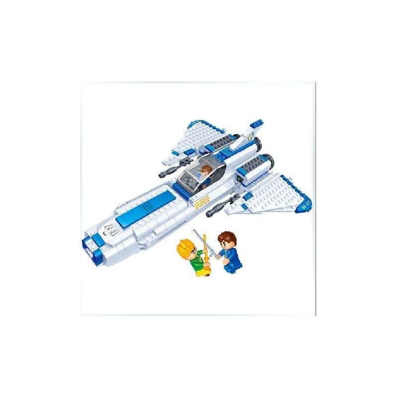 宇宙飞船益智力拼装积木发光