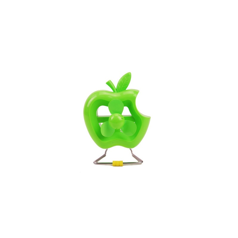 自由城 创意咬一口苹果usb电风扇 笔记本电脑迷你风扇 塑胶小电扇 cf