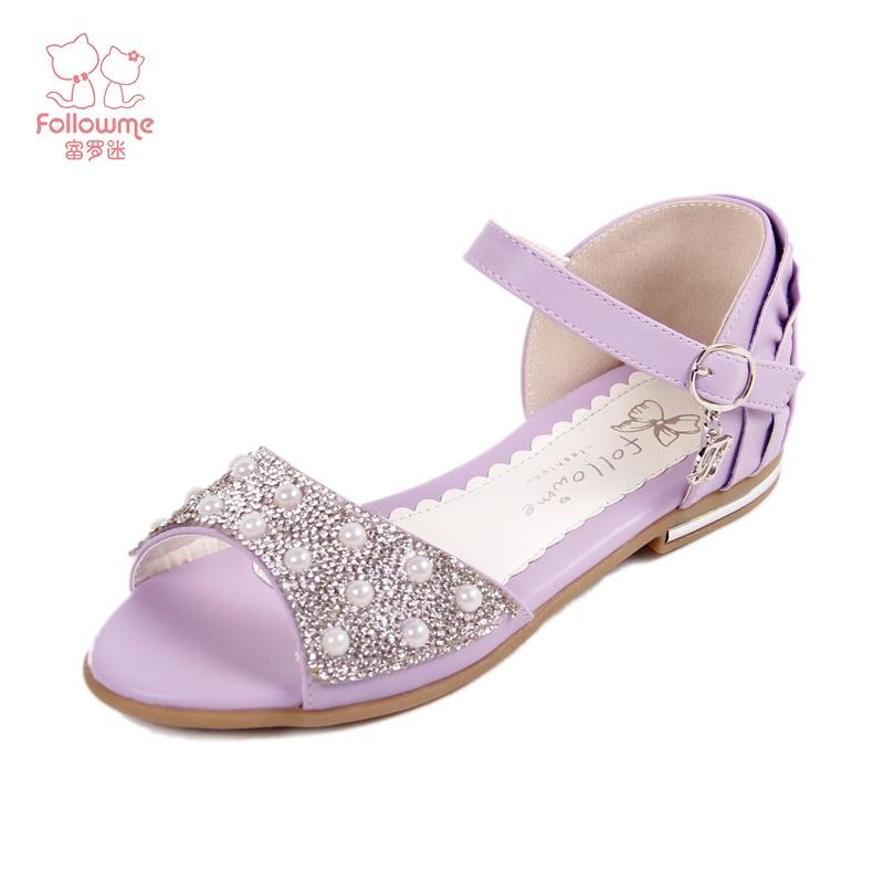 【富罗迷2014新款女童凉鞋公主鞋儿童鞋韩版童鞋女大