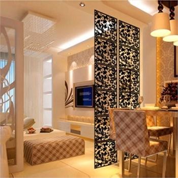隔断创意家居玄关卧室餐厅隔断帘雕花木塑悬挂式屏风