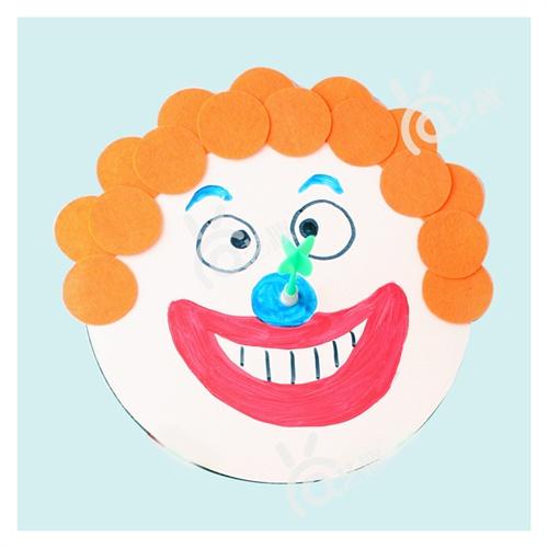 儿童节礼物安全磁性飞镖盘幼儿园手工制作儿童diy自制创意礼品_小丑