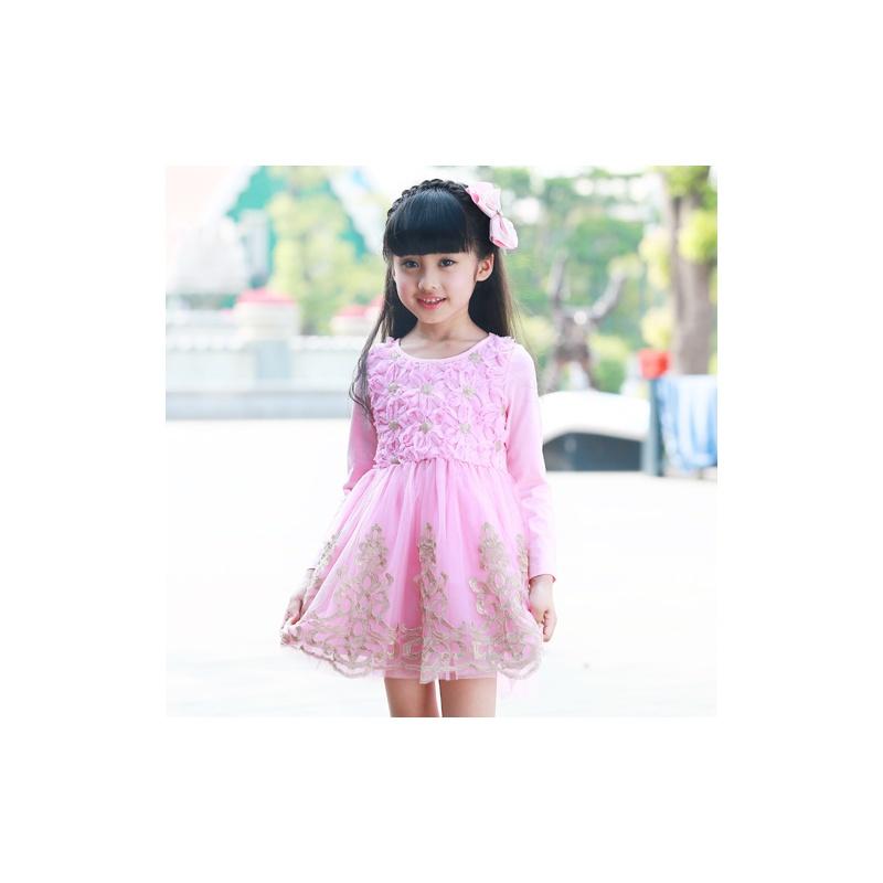 韩版时尚女童网纱连衣裙