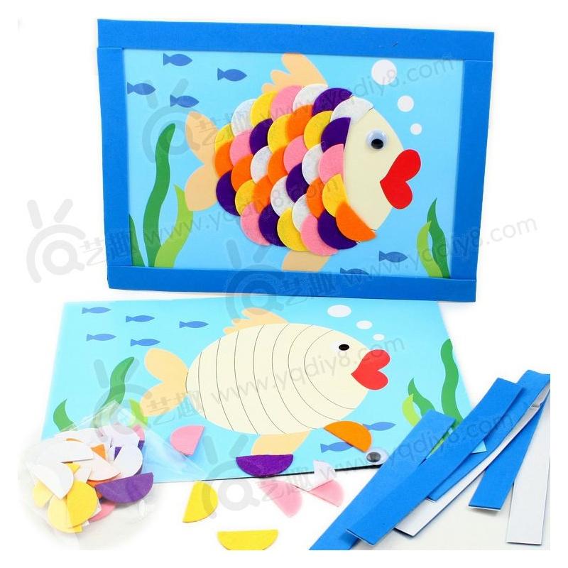 手工diy儿童手工制作幼儿手工diy--游来游去的小鱼
