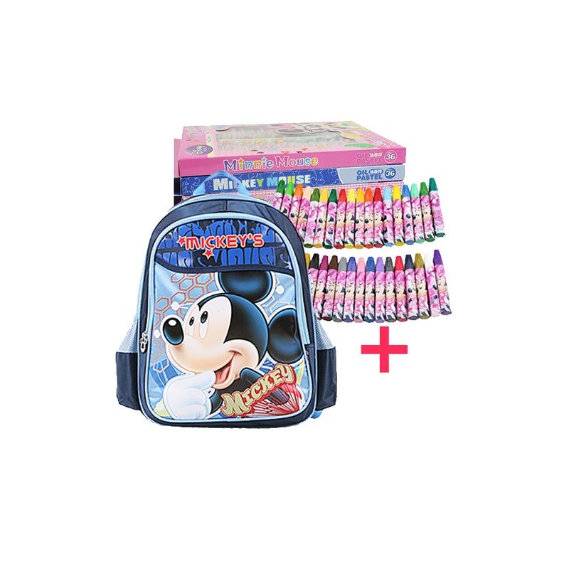 disney迪士尼米奇 儿童书包小学生男女书包双肩背包 m606056a粉色图片